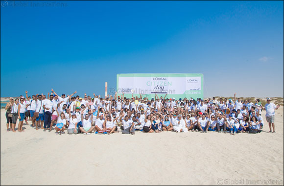 L'Oréal Middle East's employees lead beach clean-up on 5th Citizen Day Celebration