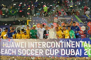 HUAWEI Celebrates Stunning Final to Round off Outstanding Intercontinental Beach Soccer Cup 2017