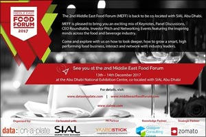Middle East Food Forum (MEFF) to host its 2nd edition co-located with SIAL Middle East in Abu Dhabi