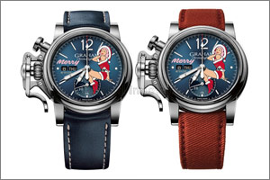 Santa Claus is coming to town on a festive Graham Chronofighter Vintage Nose Art Ltd