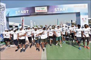 Sheikh Mansoor Leads Star-studded DXB 24hour Walkathon