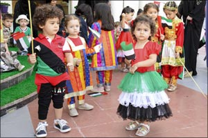 Kindergarten school customised showcases unique Arabic language program for its students ahead of Na ...