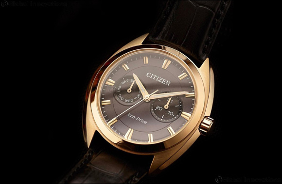 Svelte BU4108-11H dress watch in black and rose gold plating makes an impact