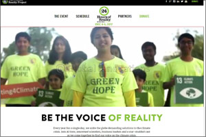 Green Hope on Former US Vice President Al Gore's 24 Hours of Climate Reality telecast