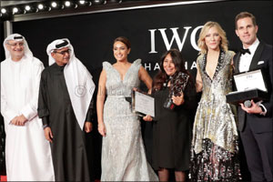 Cate Blanchett Announces Haifaa Al Mansour as Winner of Sixth IWC Filmmaker Award at Dubai Internati ...
