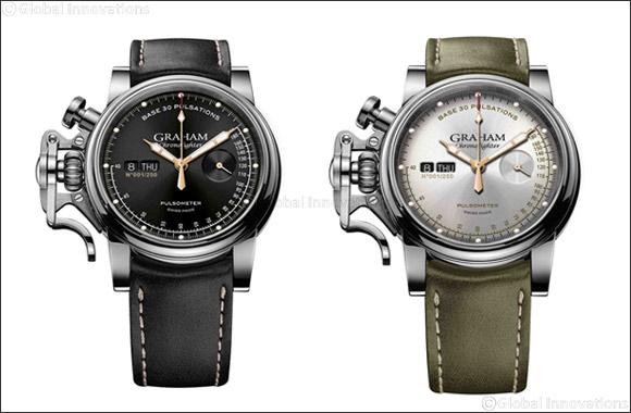 The Graham Chronofighter Vintage Pulsometer Ltd celebrates mechanical innovation and all that jazz.