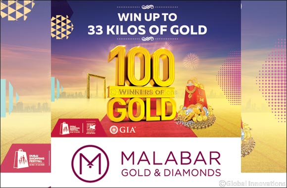 '100 Winners can win 33 Kilos of Gold' this DSF along with  Malabar Gold & Diamonds