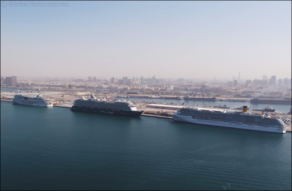 Rashid Ports receives 4 giant cruise ships simultaneously