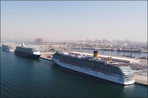 Rashid Ports receives 4 giant cruise ships simultaneously