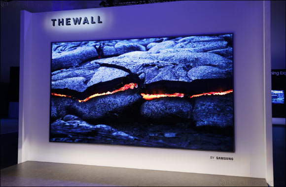 "Samsung Unveils ""The Wall,"" the World's First Modular MicroLED 146-inch TV"