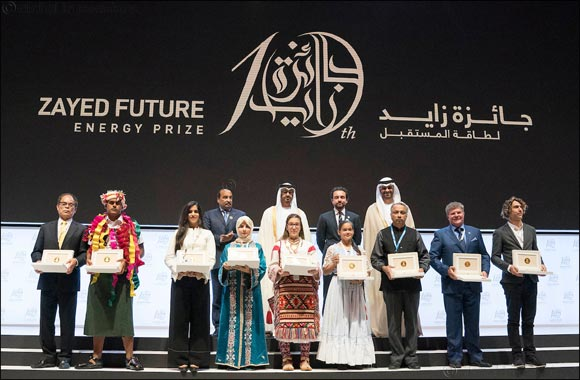 Sheikh Mohamed Bin Zayed along with the President of Mauritania and the Crown Prince of Jordan Honour Winners of Zayed Future Energy Prize
