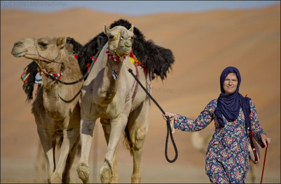 2018 'Camel Trek' of the UAE embarks from 'Empty Quarter' in Abu Dhabi