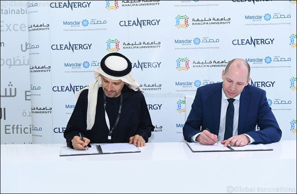 Masdar Institute and Cleanergy Partner in Research on Thermal Energy Storage for the Cleanergy Stirling CSP system