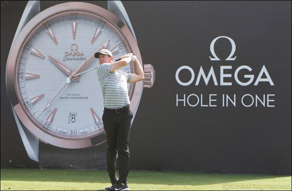 Rory McIlroy and Sergio Garcia  tee off at the 2018 OMEGA Dubai Desert Classic