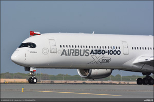 A350-1000 touches down at Muscat International Airport as part of Middle East and Asia-Pacific demon ...