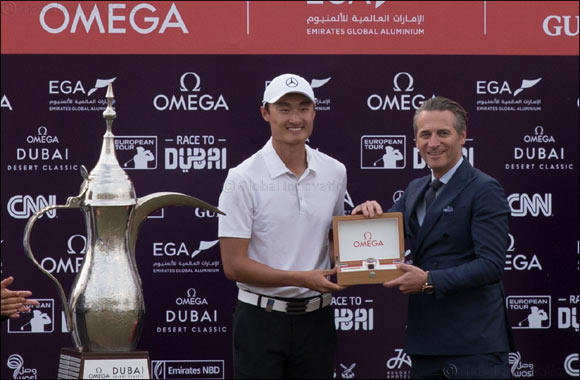 Li Haotong wins the 2018 OMEGA Dubai Desert Classic