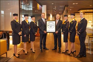 Lufthansa joins the aviation elite as Europe's only five-star airline in the Middle East