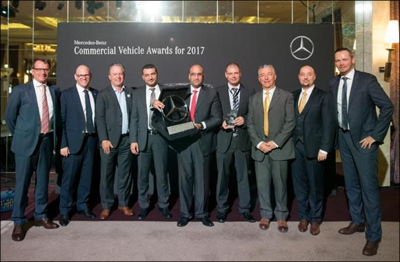 Emirates Motor Company Commercial Vehicles wins two prestigious titles at the 2018 Mercedes-Benz Commercial Vehicles MENA Conference