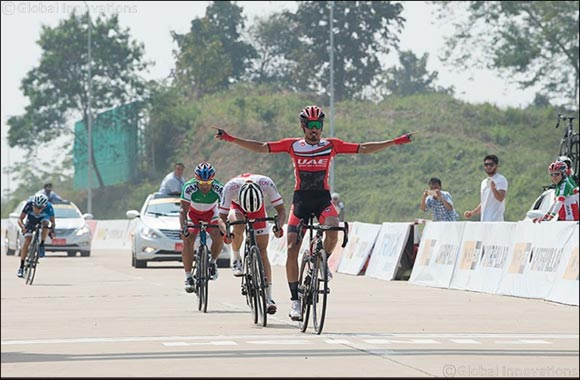 UAE Team Emirates' Mirza Takes Gold at Asian Cycling Championships