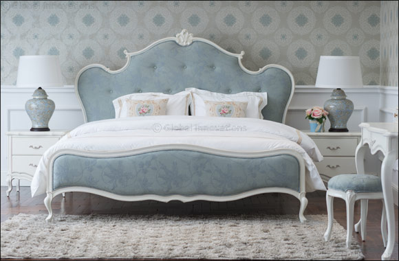 2XL launches Malmo Bed with floral designs for a vintage shabby chic inspired master bedroom