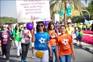 15,000 participate in the Dubai Cares' annual Walk for Education 2018 in support of children's right ...