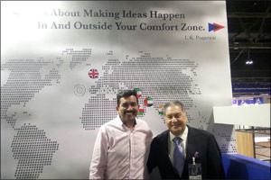 Celebrity Master Chef Mr Sanjeev Kapoor visits Al Maya booth at Gulfood 2018