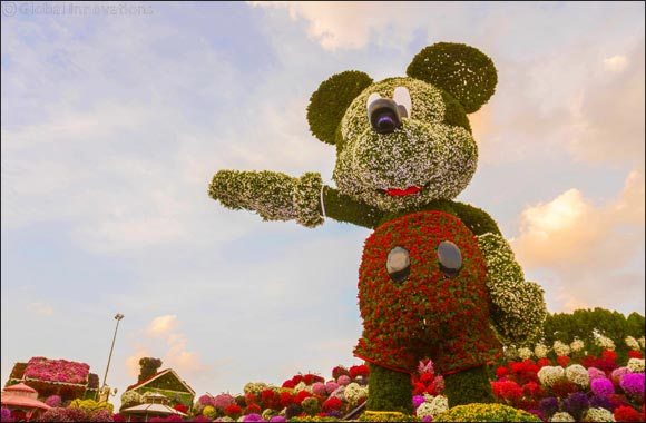 Dubai Miracle Garden celebrates upcoming 90th anniversary of Mickey Mouse with record-breaking 18-metre floral sculpture