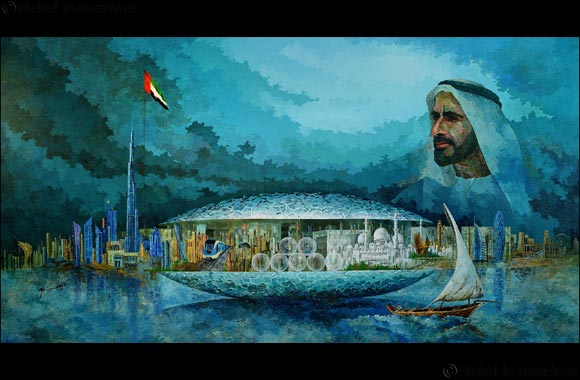 UAE-based artist pays tribute to HH Sheikh Zayed through his magnificent artwork