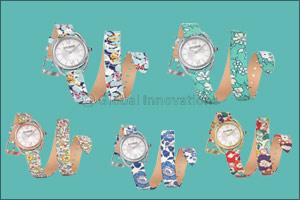 Saint Honore Celebrates Mother's Day with unique Charisma Twist Blue Liberty Double Strap Timepiece