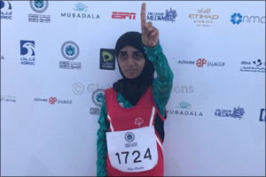 Emirati long-distance runner wins gold and the hearts of spectators