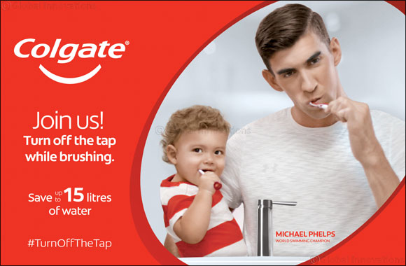 Colgate and Michael Phelps' 'Save Water' Campaign makes waves and encourages UAE Residents to Turn off the Tap