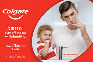 Colgate and Michael Phelps' �Save Water' Campaign makes waves and encourages UAE Residents to Turn o ...