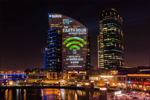Join Dubai Festival City Mall and others all over the world by turning off your lights this Earth Ho ...