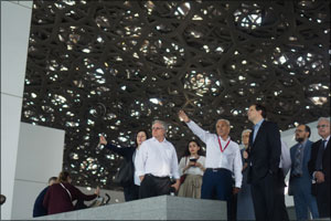 Abu Dhabi Convention Bureau Takes International Concrete Professionals on Site Visit to Louvre Abu D ...
