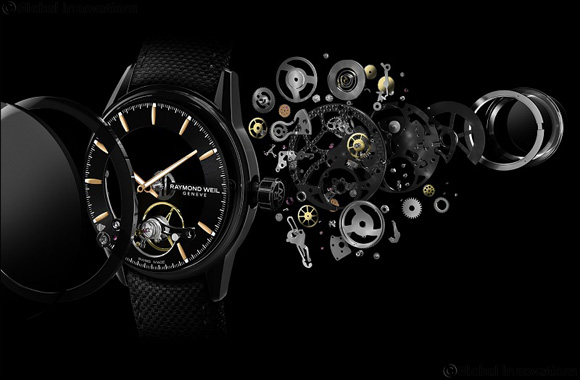 RAYMOND WEIL presents Calibre RW1212 in skeleton form a further development of its first in-house movement