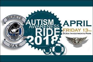 Dubai Based Bike Club ride to help raise awareness for Autism in Dubai