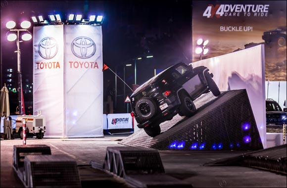 Feel the adrenaline rush with the Xtreme Toyota obstacle course at the 4th Custom Show Emirates