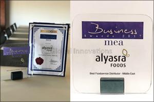 Alyasra Foods Named Best Foodservice Distributor in Middle East
