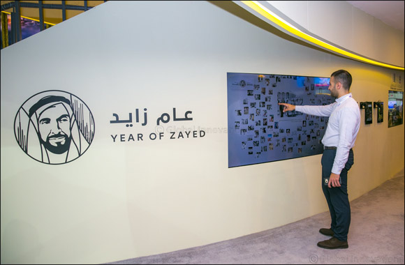 "The Department of Culture and Tourism – Abu Dhabi Displays A Spectacular Tribute to Sheikh Zayed with the ""Zayed Wall"", at Arabian Travel Market 2018"
