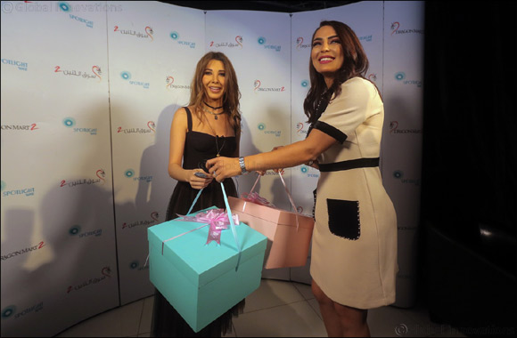Nancy Ajram presented with gifts for her children  from Dragon Mart's Toy Detective