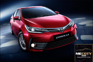 Toyota Corolla scoops �Best Small Sedan' award at 2018 Middle East Car of the Year awards