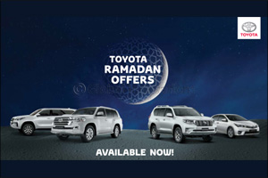 Instant gifts and unbeatable new deals starting first of Ramadan at all Al-Futtaim Toyota showrooms