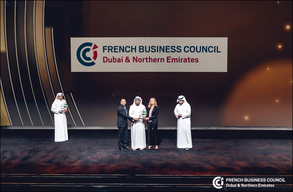 The French Business Council Dubai and Northern Emirates Receives the Dubai Quality Appreciation Award for Representative Entities During the DED Business Excellence Awards Ceremony