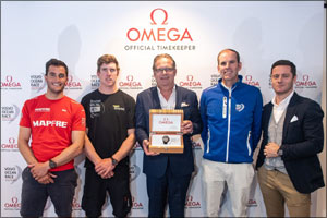 OMEGA goes onshore in Newport to unveil the Volvo Ocean Race winner's watch