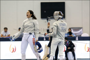 Tunisian Besbes gets ready for the World Championships with NAS Fencing gold