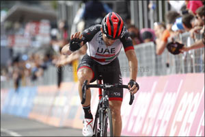Magic Marco: UAE Team Emirates' Marco Marcato Takes Top Five Spot in Stage 18 of the Giro D'italia