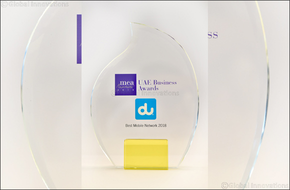 du Wins MEA Markets Magazine's 2018 UAE Best Mobile Network Award