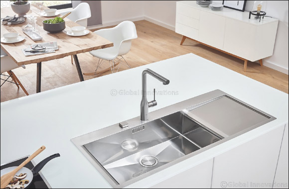 Kitchen Design from a Single Source: GROHE Sets Holistic Design Accents with Its New Kitchen Sinks and Bundles