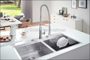 Kitchen Design from a Single Source: GROHE Sets Holistic Design Accents with Its New Kitchen Sinks a ...