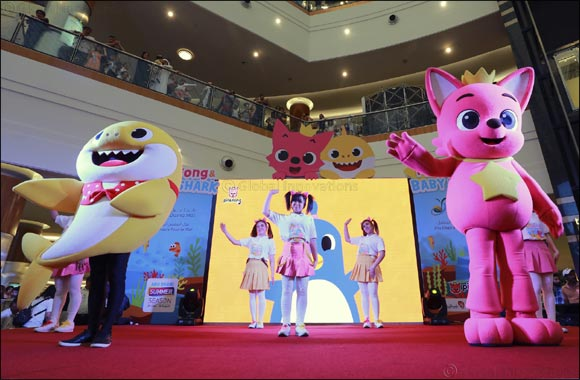 Pinkfong and Baby Shark delight hundreds of families at Dalma Mall!